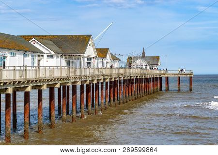 Southwold, Uk - September 6, 18 - Southwold Pier, A Pier In The Coastal Town Of Southwold In The Eng