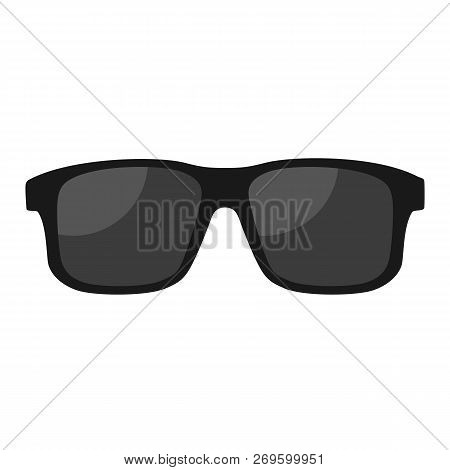 Black Glasses Isolated On White Background. Glasses Flat Style. Vector Stock.