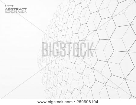 Abstract Of Pentagon Pattern Geometric Perspective Background, Vector Eps10