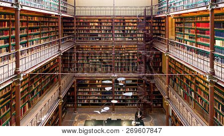 Amsterdam - Sep 27, 2014: View Of The Rijksmuseum Research Library, The Largest Public Art History R