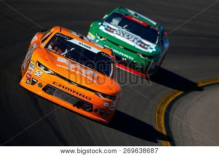 November 10, 2018 - Avondale, Arizona, USA: David Starr (52) brings his car through the turns during the Whelen Trusted to Perform 200 at ISM Raceway in Avondale, Arizona.