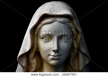 Holy Mary statue portrait