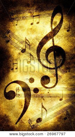 Music illustration poster