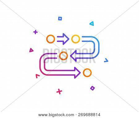 Methodology Line Icon. Development Process Sign. Strategy Symbol. Gradient Line Button. Methodology