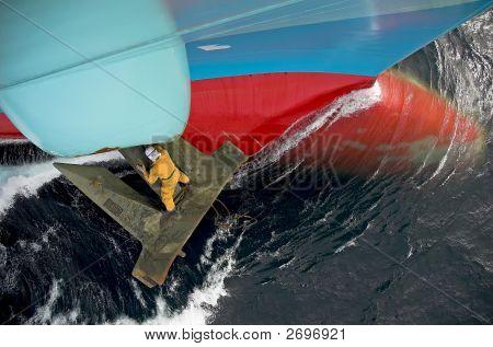 Seaman Work On The Anchor