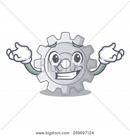 Grinning Gear On Style Character Shape Funny