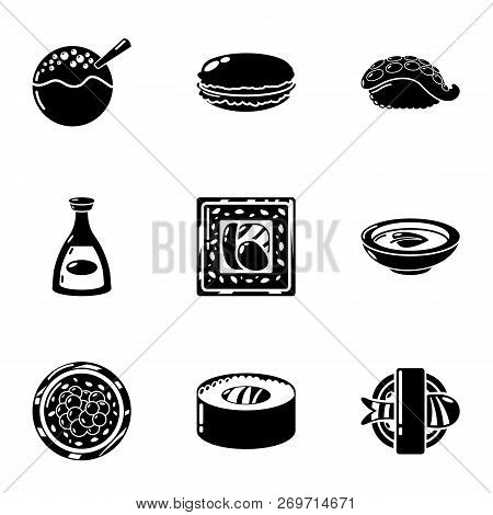 Raw Whitefish Icons Set. Simple Set Of 9 Raw Whitefish Vector Icons For Web Isolated On White Backgr