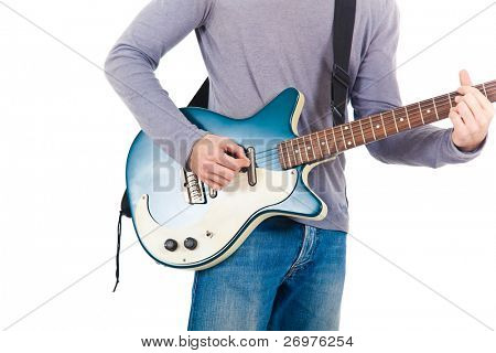 Young man playing a guitar