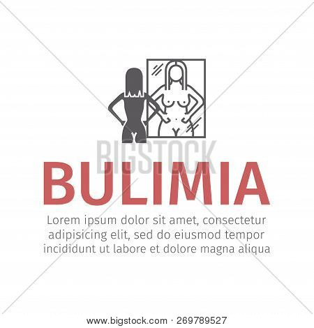 Bulimia, Anorexia. Flat Icon. Vector Sign For Web Graphic.