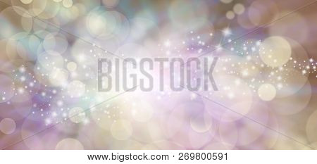 Spiritual Ethereal Angelic Starry Glitter Bokeh Background Banner - Flesh Toned Natural Bokeh  Backg