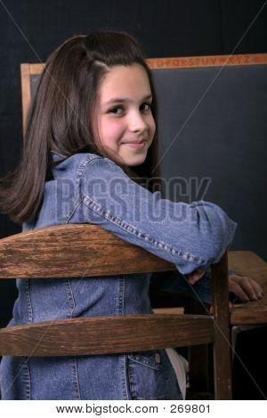 Smiling School Girl