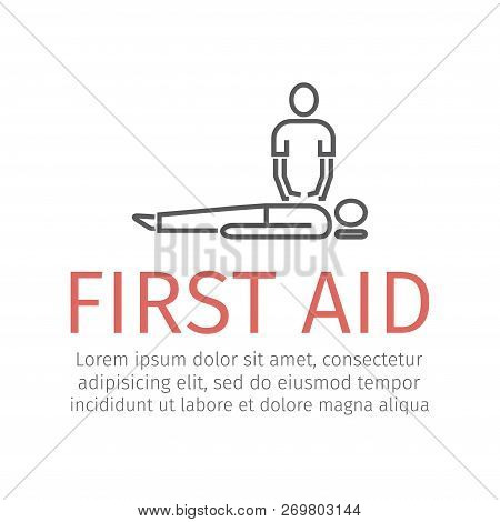 Cpr First Aid Vector Sign For Web Graphic.