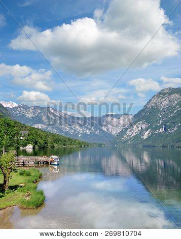 At Lake Bohinj In Triglav National Park,slovenia