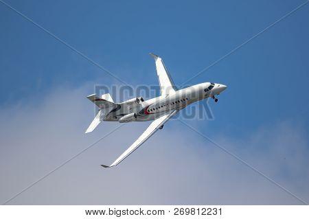 Paris - Jun 2017: Dassault Falcon 8x Business Jet In Flight
