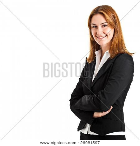 Beautiful young business woman portrait