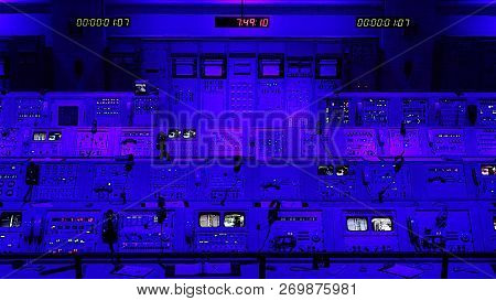 Cape Canaveral, Florida - June 14th: Actual Apollo Mission Launch Control Center At The Kennedy Spac