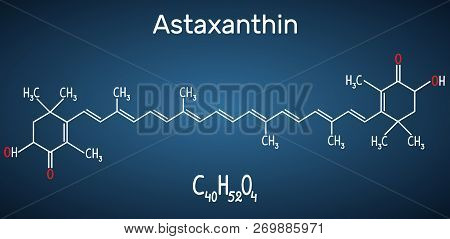 Astaxanthin Is A Keto-carotenoid. It Belongs To Class Of Chemical Terpenes Structural Chemical Formu