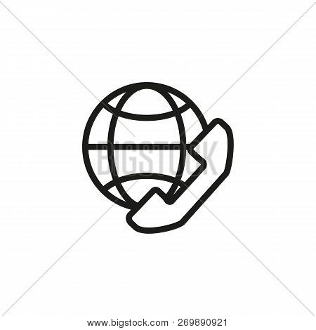Global Talk Line Icon. Internet, Connection, Communication. Internet Concept. Vector Illustration Ca