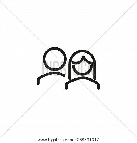 News Team Line Icon. News, Media, Broadcasting. News Concept. Vector Illustration Can Be Used For To