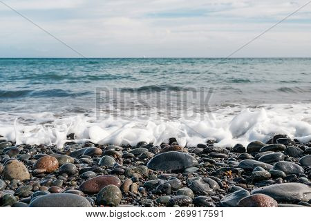 Pebble Stone Beach - Stones At Ocean Coast