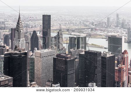 New York, Usa - Apr 30, 2016: Image Of New York City Skyscrapers Viewed From Top Of Empire State Bui