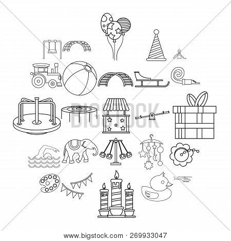Physical Education Icons Set. Outline Set Of 25 Physical Education Icons For Web Isolated On White B