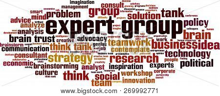Expert Group Word Cloud Concept. Vector Illustration On White