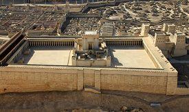 The Model Of Jewish Antique Temple In Jerusalem, Israel