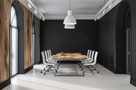 Black Office Meeting Room