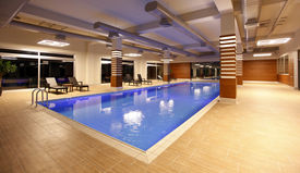 Modern indoor swimming pool