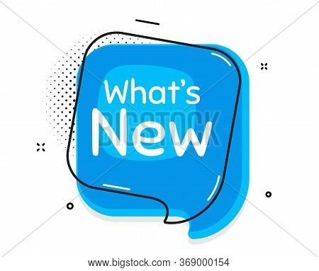 Whats New Symbol. Thought Chat Bubble. Special Offer Sign. New Arrivals Symbol. Speech Bubble With L