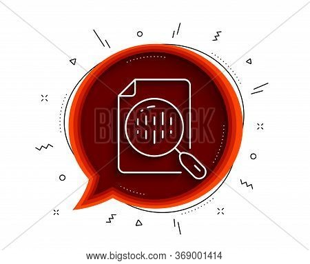 Diagram Chart Line Icon. Chat Bubble With Shadow. Analytics Graph Sign. Market Analytics Symbol. Thi