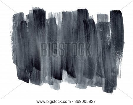 Expressive Gradient Black And Gray Watercolor Vertical Vibrant Brush Strokes Background. Modern Text