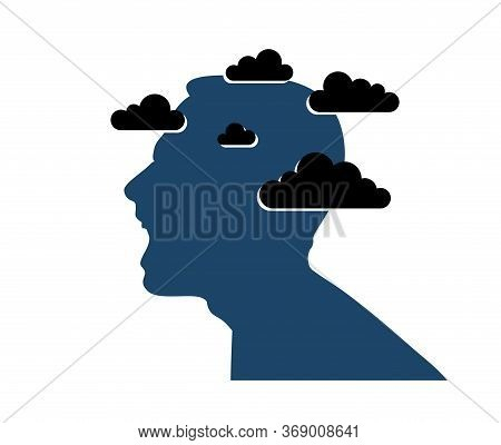 Anger, Aggression And Psychosis Mental Health And High Anxiety Vector Conceptual Illustration Or Log