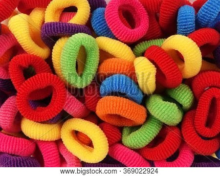 Rubber bands for hair colorful pile