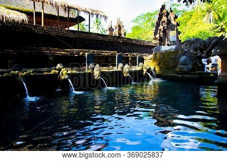 Purification Bath At Tirta Empul Temple - Bali - Indonesia