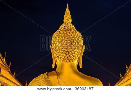 Back Bhudda Head