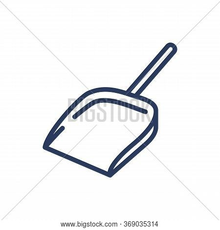Dustpan Thin Line Icon. Tool, Dust Pan, Garbage Scoop Isolated Outline Sign. Household, Cleaning Ser