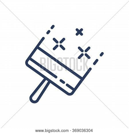 Window Scraper Thin Line Icon. Squeegee, Cleaner, Wiper Isolated Outline Sign. Household, Cleaning S