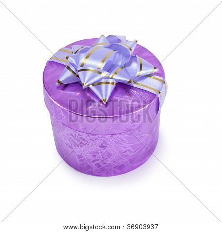 Small Purple Gift Box With A Bow