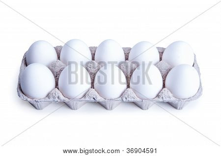 Ten White Eggs In A Box