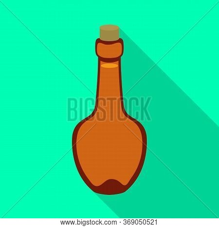 Isolated Object Of Rum And Bottle Icon. Graphic Of Rum And Glass Vector Icon For Stock.