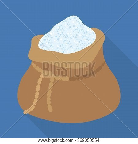 Vector Illustration Of Sack And Ingredient Icon. Web Element Of Sack And White Stock Symbol For Web.