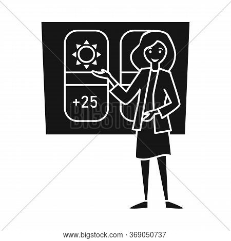 Vector Design Of Anchorman And Weather Logo. Graphic Of Anchorman And News Stock Vector Illustration