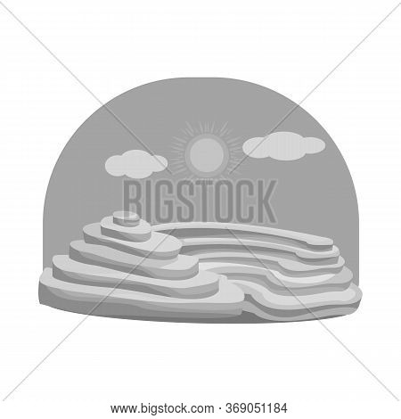 Isolated Object Of Rice And Field Icon. Set Of Rice And Terrace Stock Symbol For Web.