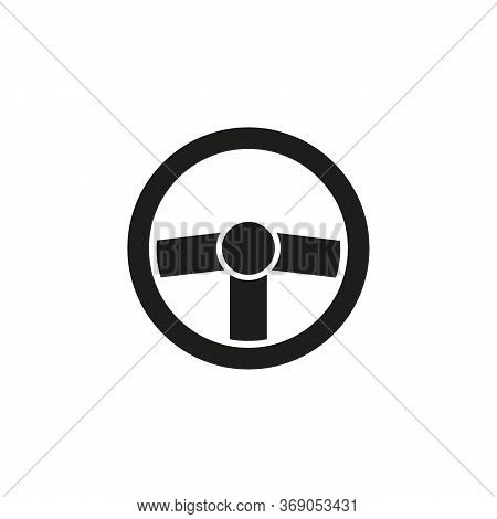 Simple Icon Of Helm. Steering Wheel, Driving, Automobile. Auto Concept. Can Be Used For Topics Like