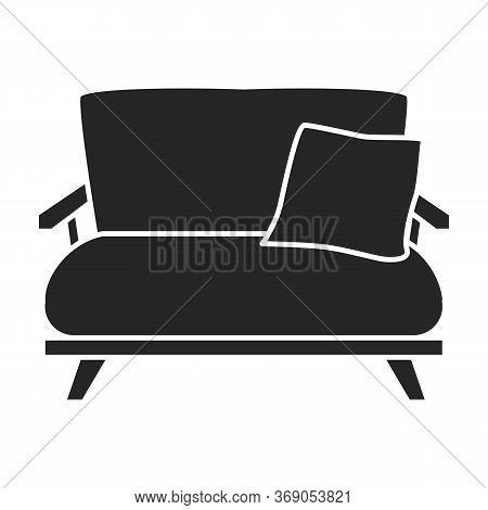Sofa Vector Icon.black Vector Icon Isolated On White Background Sofa.