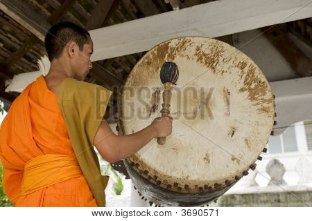 Buddhistic Monk In Luang Prabang, Laos