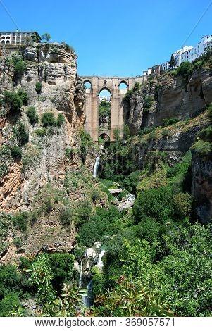 View Of The New Bridge And Ravine, Ronda, Malaga Province, Andalucia, Spain