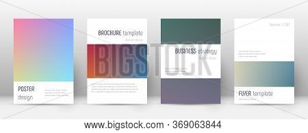 Flyer Layout. Minimalistic Shapely Template For Brochure, Annual Report, Magazine, Poster, Corporate